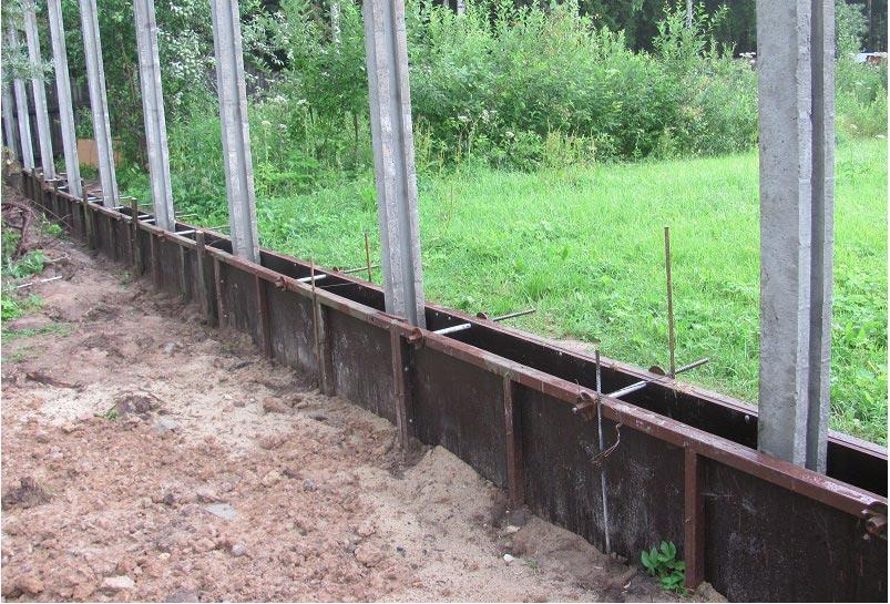 Ростверк для забор своими руками 2